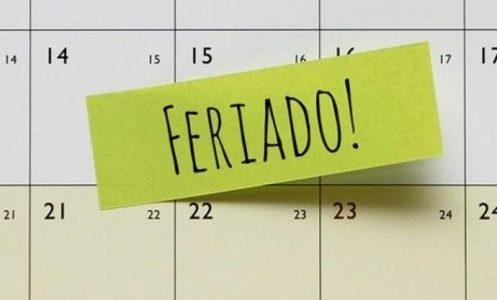 Feriado: 09 de Julho – Antecipado para segunda-feira 25/05/2020.